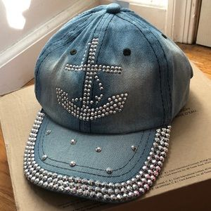 Bedazzled anchor hat